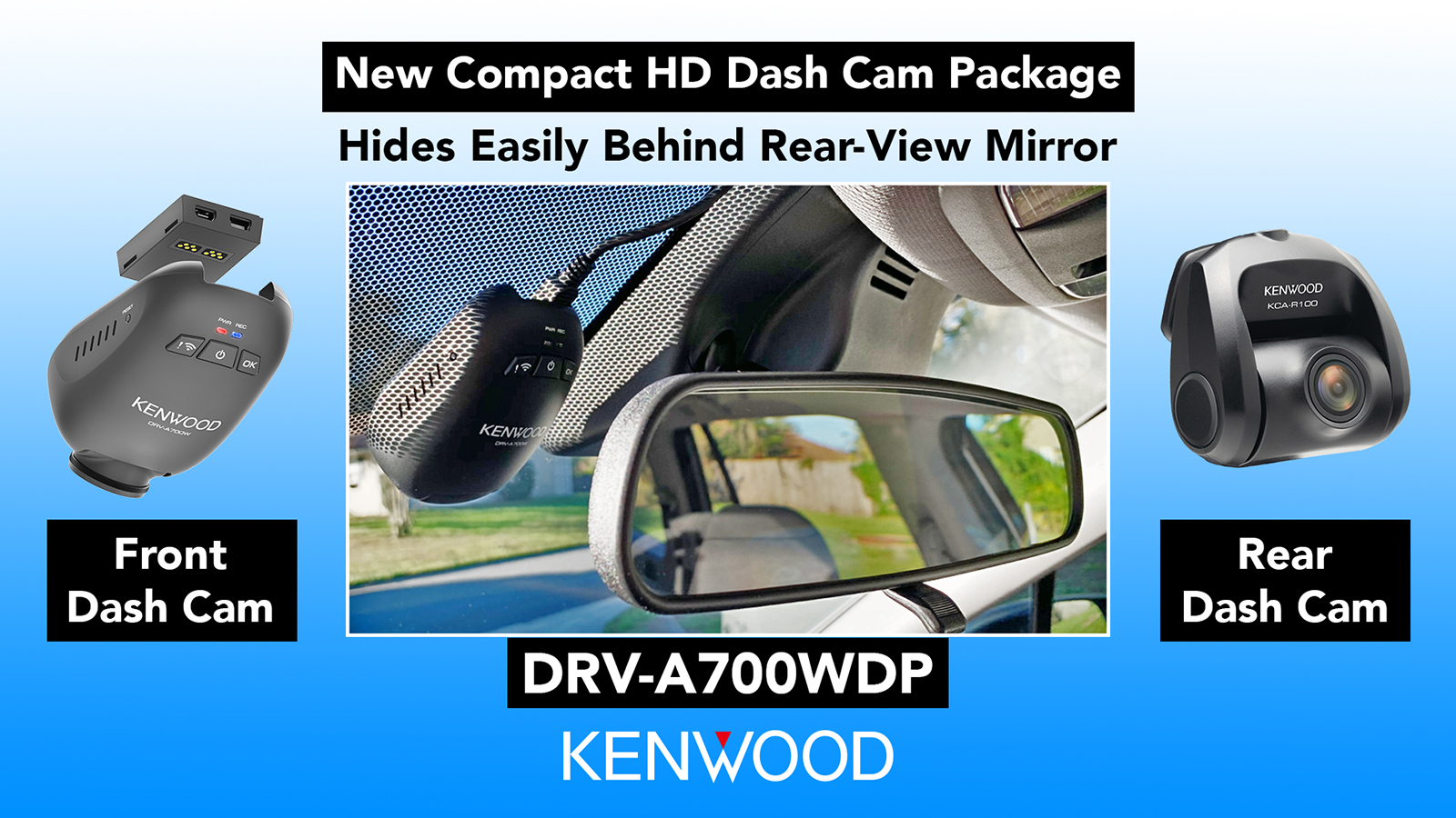 KENWOOD DRV A700WDP Compact Dash Cam CES Press Release Image 122019