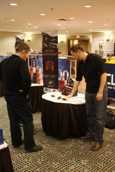 DriveNTalk display and demonstration at the Clarion Canada Product Launch