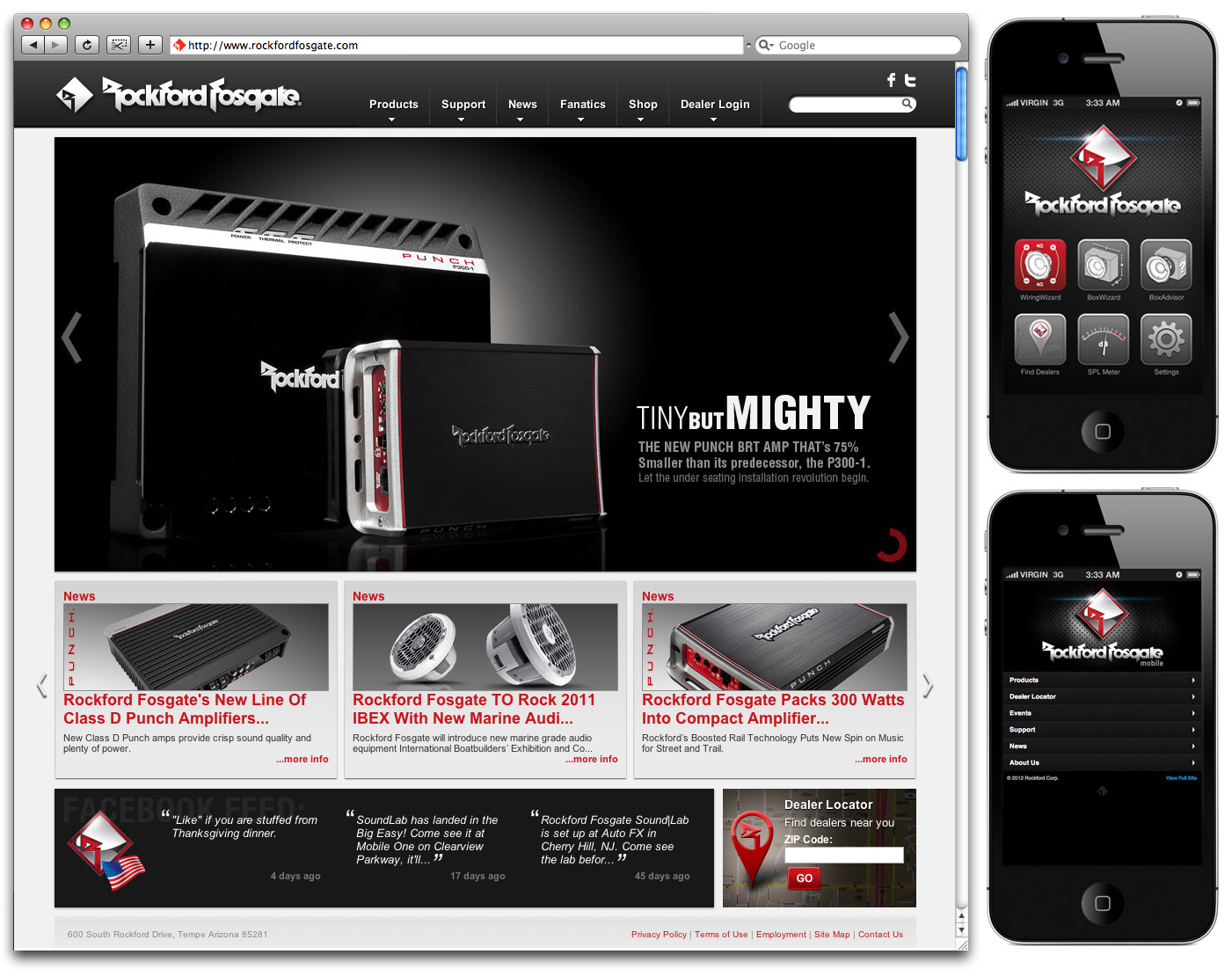 Rockford Fosgate Upgrades Website;  Launches New Mobile Website and Mobile App